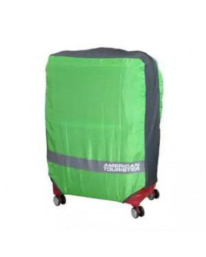 American Tourister Foldable Luggage Cover II (Z19990043) - Neon Green/Grey