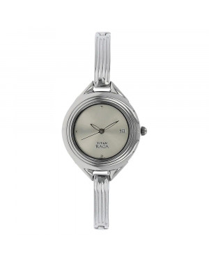 Titan Raga Silver Dial Silver Metal Strap Watch For Women Nk2513SM01