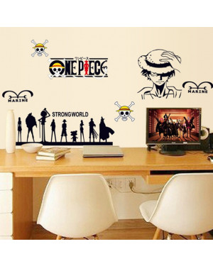 One Piece Cartoon Wallpaper Home Decor Art Decals Wall Stickers 43001352