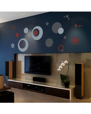 Creative Abstract Circle DIY TV Sofa Wall Decoration Stickers 43001378
