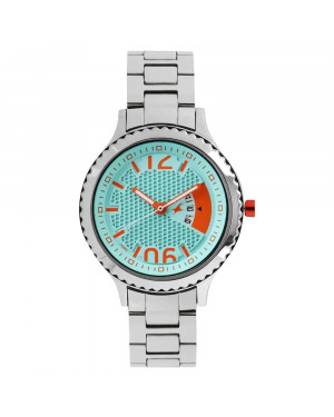 Fastrack Loopholes Blue Dial Stainless Steel Strap Watch For Girls 6168SM01