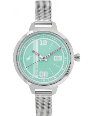 Fastrack Varsity Analog Silver Dial Women's Watch - 6174SM01