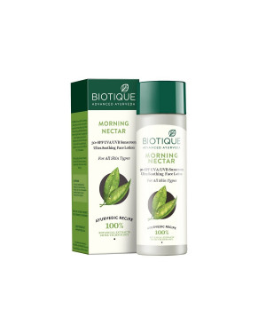 Biotique Bio Morning Nectar 30+ SPF Sunscreen Ultra Soothing Face Lotion 120ml