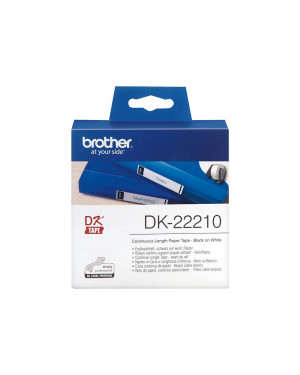 Brother DK Label Roll, Continuous Length Paper, Black on White, (29mm x 30m)