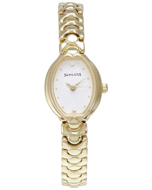Sonata Analog White Dial Women's Watch 8107YM01