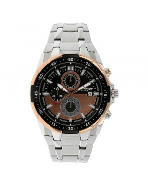 Titan Octane Black Dial Chronograph Watch For Men 90044KM04