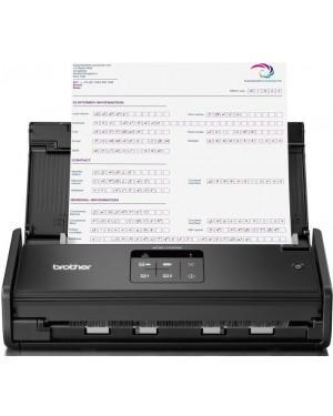 Brother ADS-1100W Compact Document Scanner + Wireless