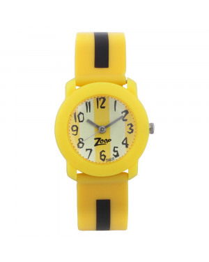 Titan Yellow Dial Yellow Plastic Strap Watch C3025PP03