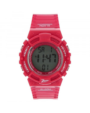 Titan Digital Watch with Red Plastic Strap For Kids C4040PP01