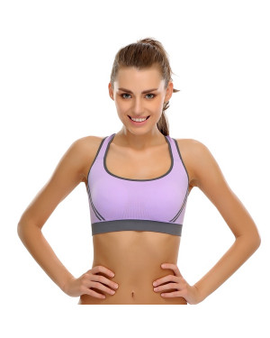 Clovia Polymaide Sports Bra With Soft Non-Wired Cups - BR0332P12