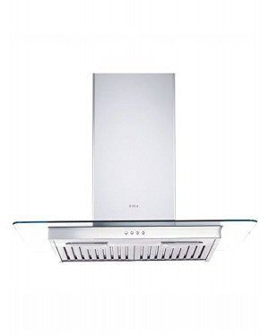 ELICA FLAT GLASS ETB PLUS LTW 903 PB LED KITCHEN CHIMNEY 90cm