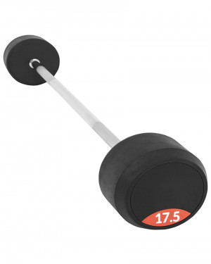Fixed Rubber Barbell 17.5kg