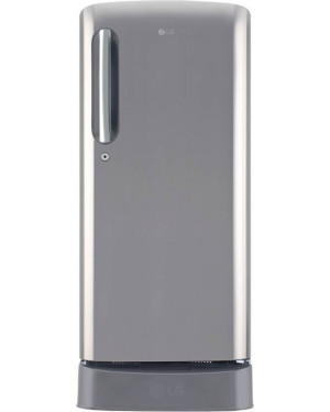 LG 190 L Single Door Refrigerator Shiny Steel GLD201ALLB