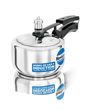 Hawkins HSS15 Stainless Steel Induction Compatible Pressure Cooker, 1.5 Litre