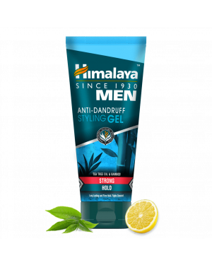 Himalaya Men Anti Dandruff Strong Styling Gel, Strong Hold, 100ml