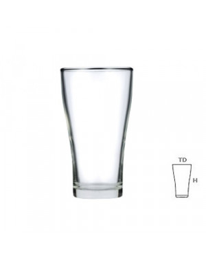 Lucky Glass 22F / 102214(F) Froasted Beer Glass 385ml