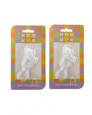 Mee Mee baby Toothbrush MM-3793 white Pack of 2