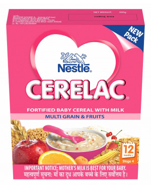 Nestle Cerelac Stage 4 -Fortified Baby Cereal With Milk Multi Grain & Fruits (12+month)