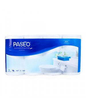 Paseo Toilet Roll 280s 3Ply 8rolls Embossed Paseo Elegant 53211044