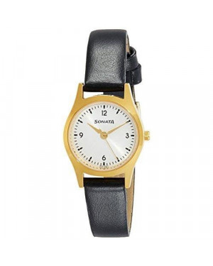 Sonata Essentials White Analog Women's Watch 87025YL04