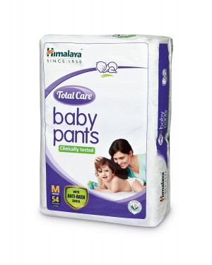 Himalaya Total Care Baby Pant Diapers Medium 54 Count