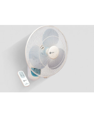 Orient Electric Wall-49 16-Inch Wall Fan with Remote (Crystal White)