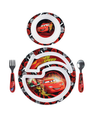 The First Years Cars 4pc Feeding Set Y9459