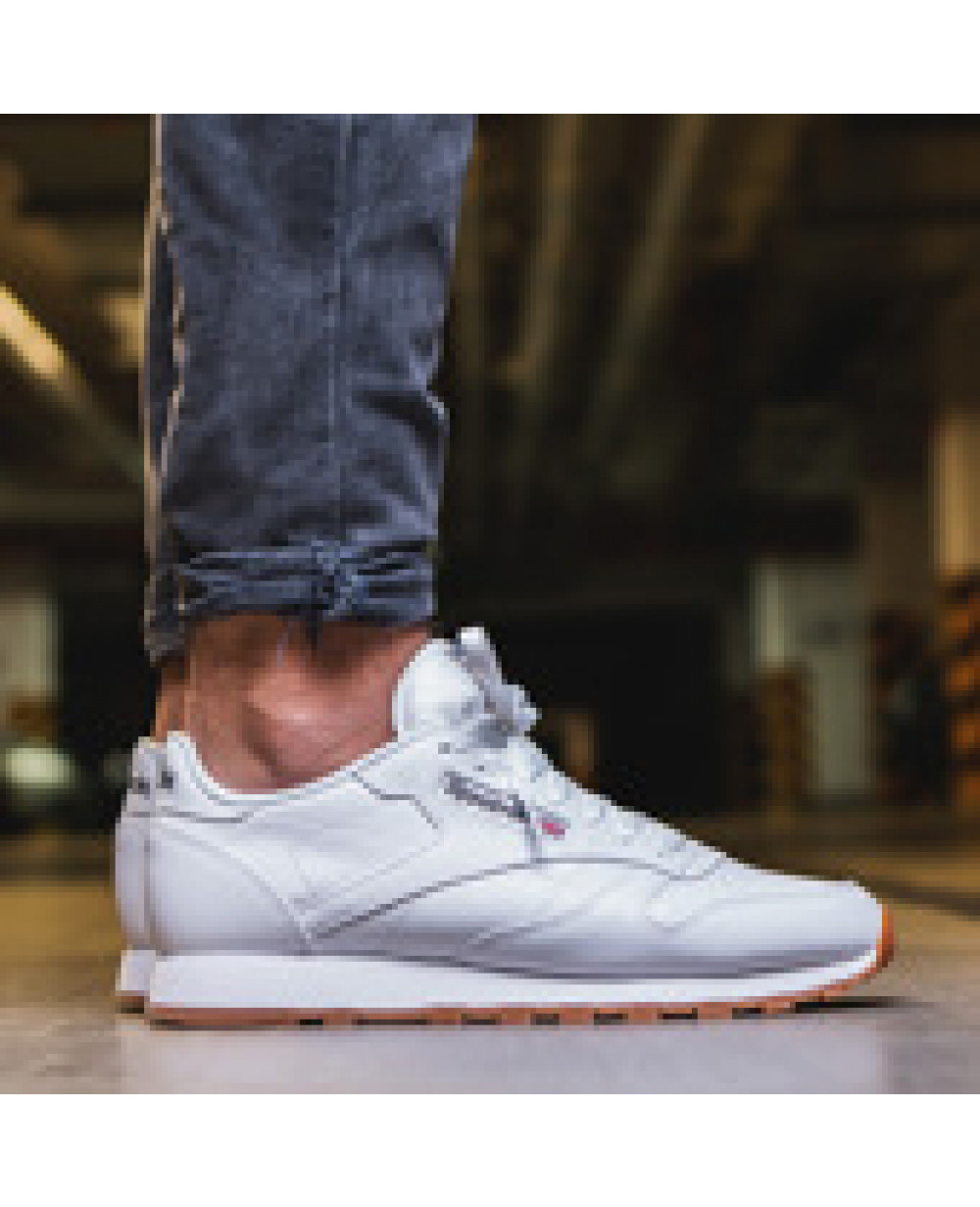 Reebok Classic Leather White Shoes Men